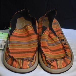 Sanuk Donny Casual Loafer Boat Shoes Mens Size 12